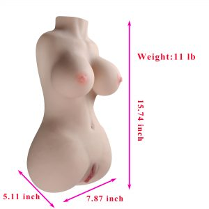 11 Pounds Sex Doll Male Masturbator with Vagina and Anal, 3D Realistic Love Doll with Torso Skeleton for Men Masturbation Lifelike Adult Male Sex Toy with Pussy Ass Butt Big Breasts