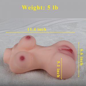 5 Pounds Sex Doll with Torso Skeleton for Men Masturbation