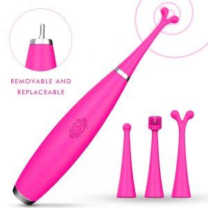 Female Vibrator Women Electric G Spot Sex Toys Wand 9 Vibration 3 Replaceable Heads Clitoris Nipple Vagina Massagers